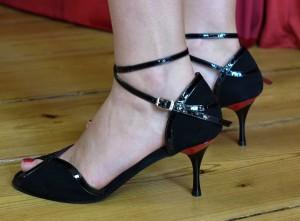 tangoschuhe, berlin, schwarz, leder, 6,5cm, größe 41